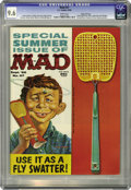 Magazines:Mad, Mad #57 Gaines File pedigree (EC, 1960) CGC NM+ 9.6 White pages. Wally Wood had a deft touch for parodying comic strips, and...
