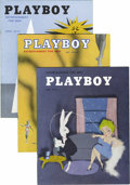 Magazines:Miscellaneous, Playboy #7-13 Group (HMH Publishing, 1954) Condition: Average FN+.Finding nice copies of issues from Playboy's first fu... (Total: 7Items)