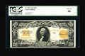 Large Size:Gold Certificates, Fr. 1187 $20 1922 Gold Certificate PCGS Gem New 66....