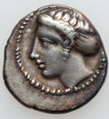 Ancients:Greek, Ancients: THESSALY. Larissa. Ca. 420-400 BC. AR drachm (20mm, 5.81gm, 2h). ...