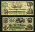 Obsoletes By State:Louisiana, New Orleans, LA- City of New Orleans 25¢, 50¢ Oct. 24, 1862. ... (Total: 2 notes)