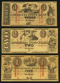 Obsoletes By State:Louisiana, New Orleans, LA- Louisiana State Bank $1, $2, $3 Remainders G2a, G4a, G6a. ... (Total: 3 notes)