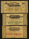 Obsoletes By State:Louisiana, Pointe Coupee, LA- Parish of Pointe Coupee 5¢; 10¢; 50¢ Mar. 24, 1862. ... (Total: 3 notes)