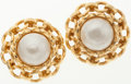 Luxury Accessories:Accessories, Chanel Pearl-Like Ornament Clip-On Earrings. ...