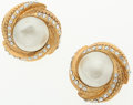Luxury Accessories:Accessories, Chanel Pearl-Like Oranment Clip-On Earrings. ...
