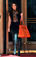 Luxury Accessories:Bags, Hermes 50cm Orange H Swift Leather Kelly Relax Shoulder Bag with Palladium Hardware. ...