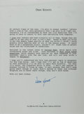 Autographs:Authors, Dean Koontz (American Writer). Typed Letter Signed. Near fine....