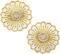 Estate Jewelry:Brooches - Pins, Diamond, White Gold, Gold Pendant-Brooches, Chaumet. ...