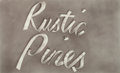 Post-War & Contemporary:Pop, ED RUSCHA (American, b. 1937). Rustic Pines, 1967. Gunpowderon paper. 13-1/4 x 21-3/4 inches (33.7 x 55.2 cm). Signed a...