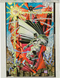 Original Comic Art:Miscellaneous, Spawn/Batman Splash Hand-Colored Color Production Art (Image, 1990s)....