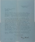 Autographs:Authors, Mary Stewart (British Writer). Typed Letter Signed. Very good....