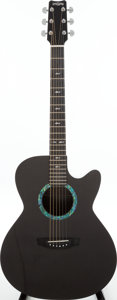 Musical Instruments:Acoustic Guitars, 2010 Rainsong WS-1000 Black Acoustic Guitar....