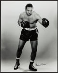 Boxing Collectibles:Autographs, Archie Moore Signed Oversized Photograph. ...