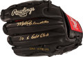 Baseball Collectibles:Others, Mike Schmidt 10 X Gold Gloves Signed Baseball Glove....