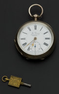"Timepieces:Pocket (pre 1900) , Watts & Co. LTD ""The Signal"" Silver 18 Size Pocket Watch. ..."