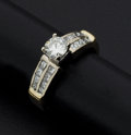 Estate Jewelry:Rings, Fine Diamond & Gold Engagement Ring. ...
