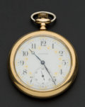 Timepieces:Pocket (post 1900), Waltham 14k Gold 21 Jewel Maximus Pocket Watch. ...