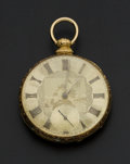Timepieces:Pocket (pre 1900) , Michael Isaac Tobias 18k Gold Key Wind Pocket Watch. ...
