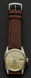 Timepieces:Wristwatch, Rolex Oyster Perpetual Date Just Wristwatch. ...