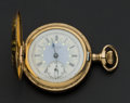 Timepieces:Pocket (post 1900), Elgin Fancy Dial Hunter's Case Pocket Watch. ...