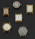 Timepieces:Wristwatch, Six Vintage Manual Wind Wristwatches . ... (Total: 6 Items)