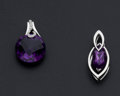 Estate Jewelry:Pendants and Lockets, Two Amethyst Pendants. ... (Total: 2 Items)