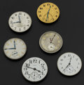 Timepieces:Other , Six Watch Dials & Movements. ... (Total: 6 Items)
