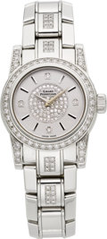 "Timepieces:Wristwatch, Girard Perregaux Lady ""F"" Joaillerie Diamond Wristwatch, Box &Papers. ..."