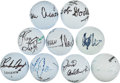 Golf Collectibles:Autographs, Golf Greats Signed Golf Balls Lot of 9....