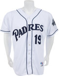 Baseball Collectibles:Uniforms, 1998 Tony Gwynn Game Worn, Signed San Diego Padres Jersey. ...