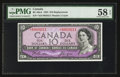 Canadian Currency: , BC-40aA $10 1954 Replacement Note. ...