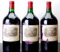 Red Bordeaux, Chateau Lafite Rothschild 1983 . Pauillac. 3-tissue stainedlabels, owc. Double-Magnum (3). ... (Total: 3 D-Mags. )