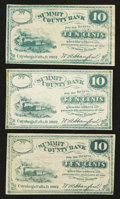 Obsoletes By State:Ohio, Cuyahoga Falls, OH- W.A. Hanford at Summit County Bank 10¢Remainders Wolka 0943-02 (three examples). ... (Total: 3 notes)