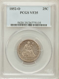 Seated Quarters, 1852-O 25C VF35 PCGS....