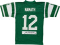 Football Collectibles:Uniforms, Joe Namath Signed New York Jets Jersey....