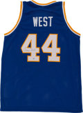 Basketball Collectibles:Uniforms, Jerry West Signed All Star Jersey....