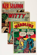 Golden Age (1938-1955):Crime, Comic Books - Assorted Golden Age Crime Comics Group (Various Publishers, 1940s-'50s) Condition: Average GD.... (Total: 15 Comic Books)
