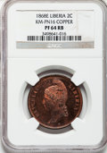 Liberia, Liberia: Republic copper Pattern 2 Cents 1868-E,...