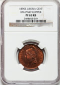 Liberia, Liberia: Republic copper Pattern Cent 1890-E,...