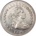 Early Quarters, 1796 25C AU58 Prooflike NGC. B-2, R.3....