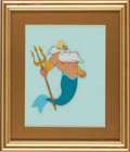 Animation Art:Presentation Cel, Little Mermaid King Neptune Animation Presentation Cel(undated)....