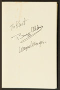 "Miscellaneous Collectibles:General, Buzz Aldrin Signed Hardcover ""Return to Earth"" Book...."