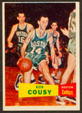 Basketball Cards:Singles (Pre-1970), Signed 1957 Topps Bob Cousey Rookie #17. ...