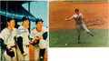 Autographs:Photos, 1980's Hall of Famers & Stars Signed Large Photographs Lot of2....