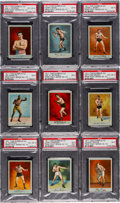 "Boxing Cards:General, 1911 T225 Surbrug Co. ""Prize Fight Series"" No. 101 Near Set (23/25) -#2 on the PSA Set Registry...."