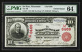 National Bank Notes:Wisconsin, De Pere, WI - $10 1902 Red Seal Fr. 613 The NB of De Pere Ch. #(M)6469. ...