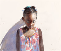 STEPHEN SCOTT YOUNG (American, b. 1957) Hibiscus Dress (Little Cindy), 2009 Watercolor and pencil on