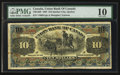 Canadian Currency: , Quebec City, PQ- Union Bank of Canada $10 Jun. 1, 1907 Ch. #730-14-08 . ...