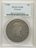 Early Dollars: , 1795 $1 Flowing Hair, Three Leaves VF20 PCGS. PCGS Population(178/813). NGC Census: (66/784). Mintage: 160,295. Numismedia...