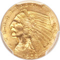 Indian Quarter Eagles, 1908 $2 1/2 MS65 PCGS....
